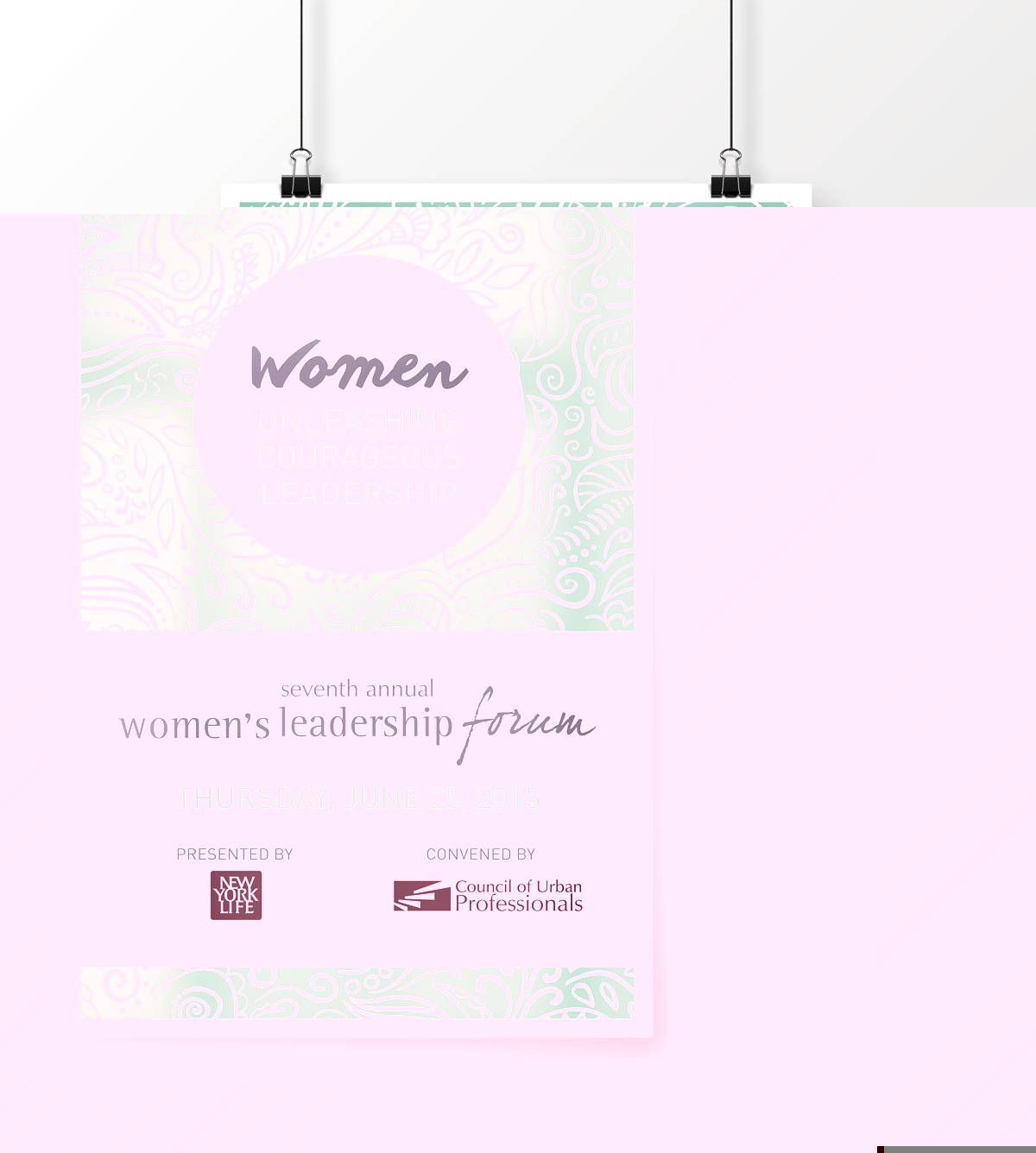 CUP Women's Leadership Forum Event Poster