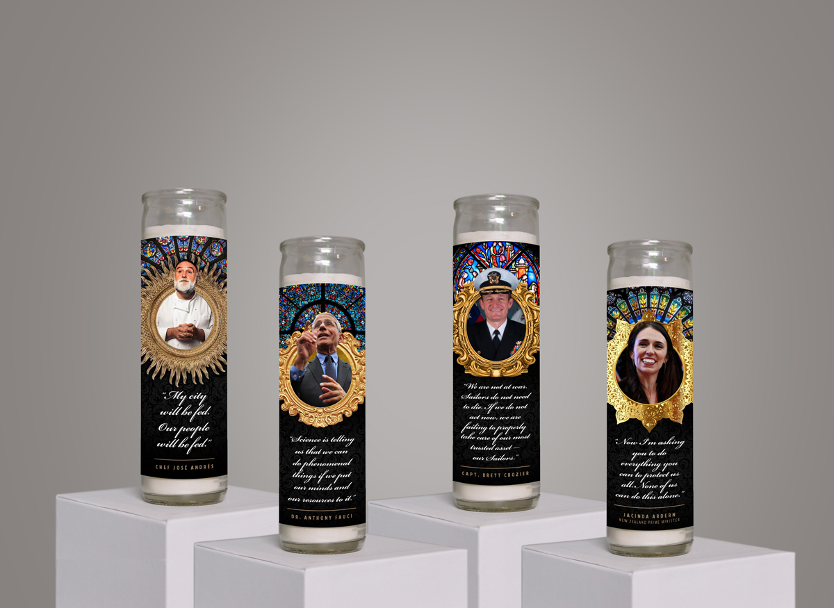 Subjects of the COVID-19 prayer candle series